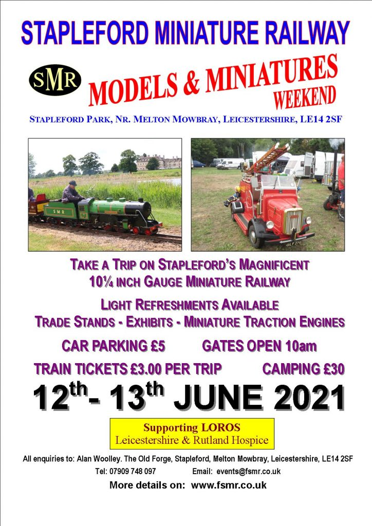 Stapleford Miniature Railway Models & Miniatures Weekend - 13th and 14th June